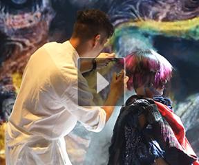 博柔沙龙盛典2014发哲美发学院现场造型秀