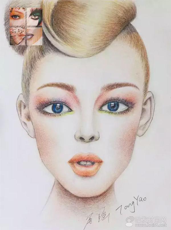 毛戈平学校形象设计与艺术创意班美人图素描作业