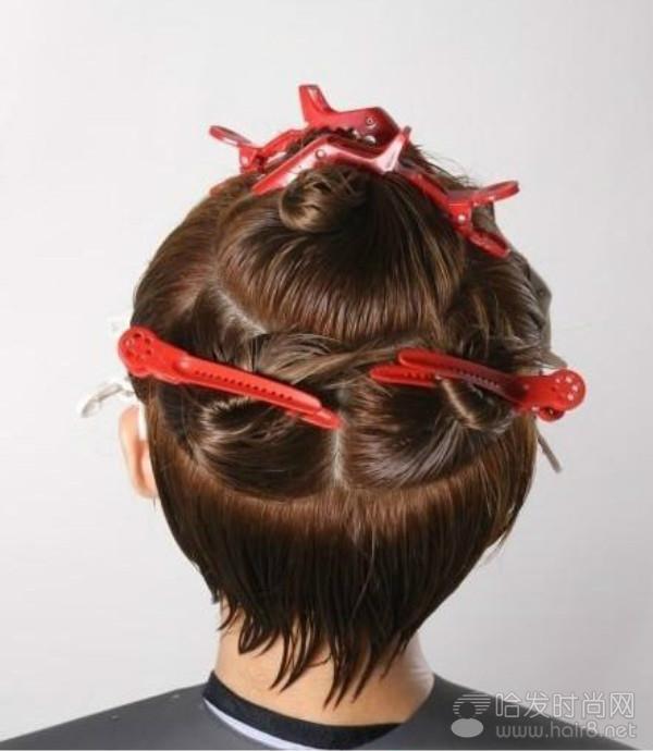 蓬松女士短发剪烫发技巧图片
