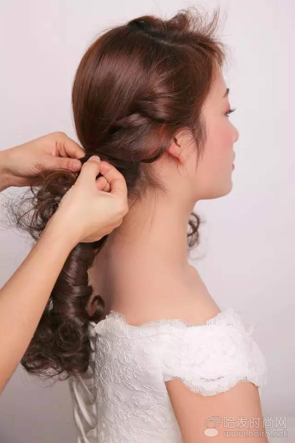 森系新娘发型详细步骤