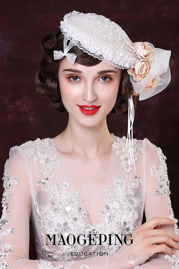 欧式复古造型呈现了新娘的高贵和优雅.   作品编号: 5号