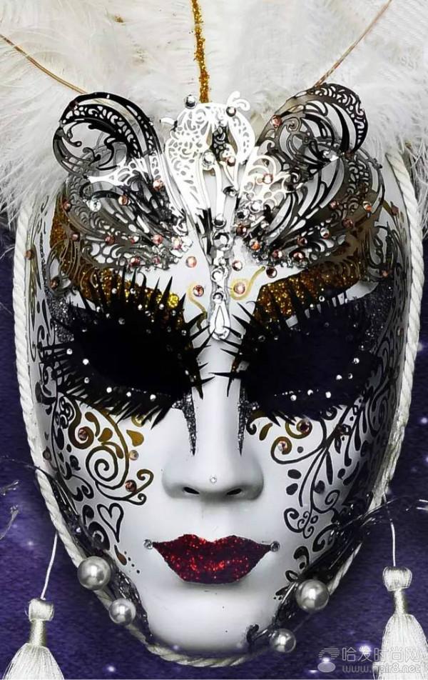 手绘面具图片蝴蝶