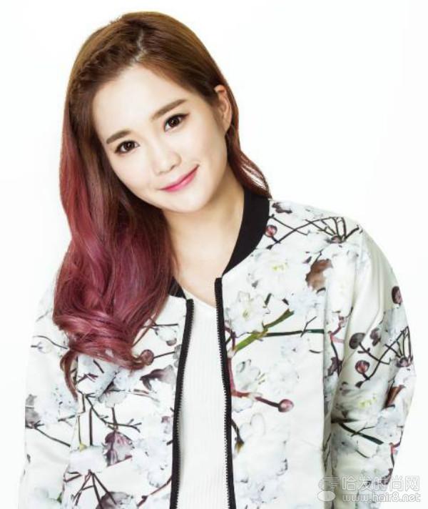 韩式潮流染色之桃花色_发型剖析_哈发时尚网