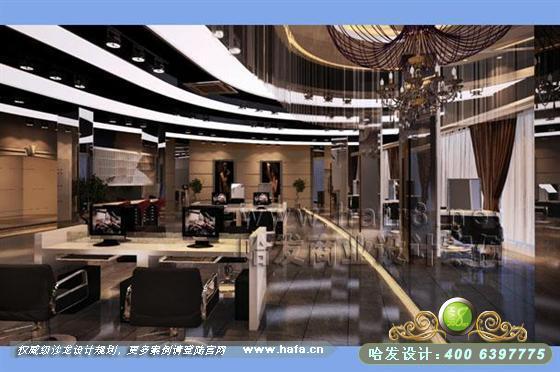 湖南省怀化市后现代新古风格美容美发店装修设计案例 美发店装修,高清图片