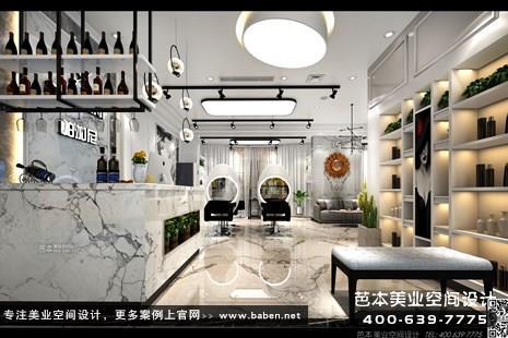 浙江省绍兴帕加尼造型美发店装修设计