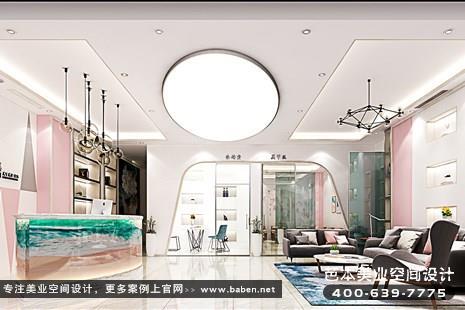 上海现代简约风格美发美容综合店装潢