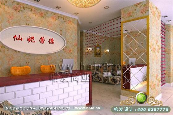 江苏省南京市欧式田园风格美容院装修设计案例