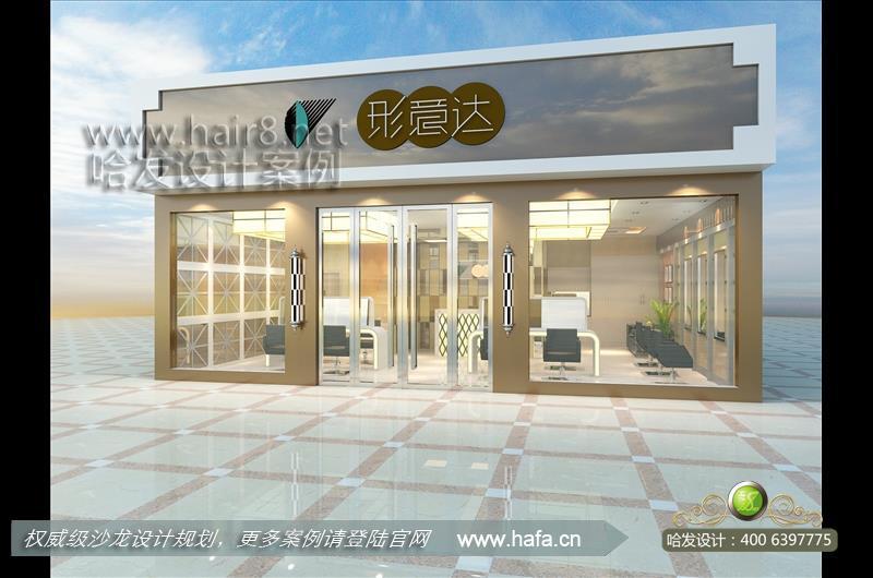 河南省新中式风格美发店装修案例图片
