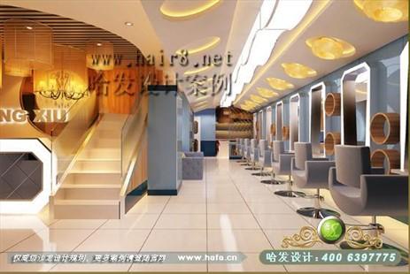 江苏省南京市都市豪爽风格美发店装修设计案例【图3】