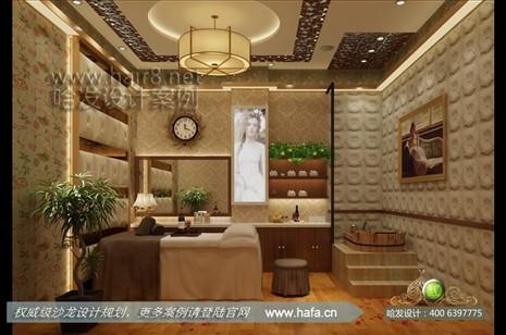 山东省淄博市本案采用欧式田园风格,营造典雅,自然气息美容院装潢案例图片