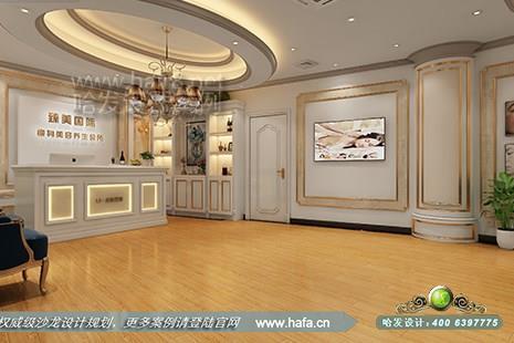 臻美国际瘦身美容养生会所采用欧式简约风格美容院装修案例【图1】