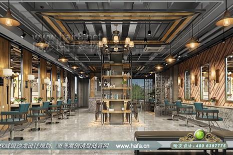 浙江省温州市新红宝后东方美尚采用工业风格美发美容综合店装修案例