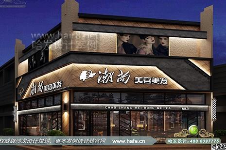江苏省扬州市潮尚美容美发采用复古工业风格美发店装修案例【图3】