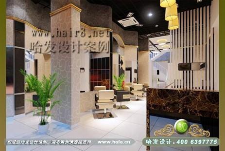 欧式古典风格美发店装修设计案例图片