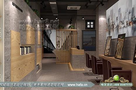 浙江省杭州市美苑造型沙龙采用新中式风格美发店装修设计案例【图2】