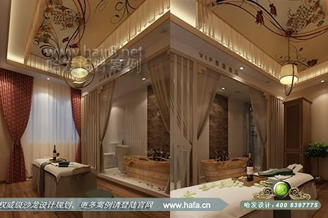 江苏省常州市名流私人美容会所采用日式风格美容院装修案例【图1】