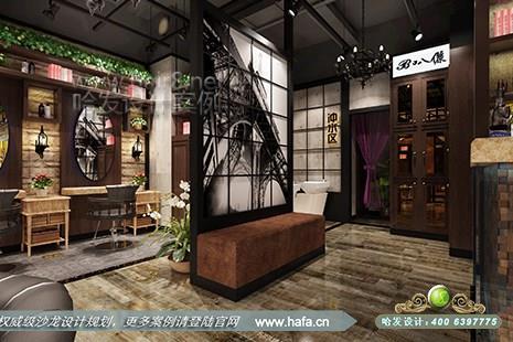 江苏省南京市托乐嘉叭丽造型采用复古风格美发店设计案例【图2】