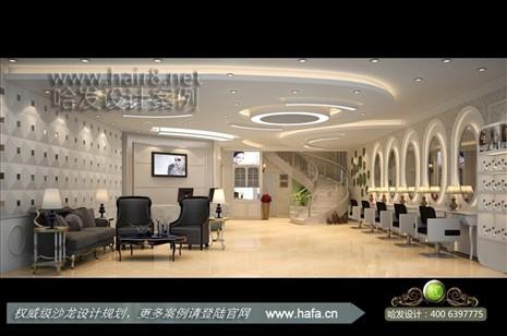 江苏省常州市现代与日式奢华混搭美发店装修设计案例【图3】