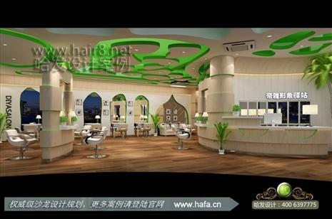 江苏省南通市舒适轻松,亲近自然美发店设计案例【图1】