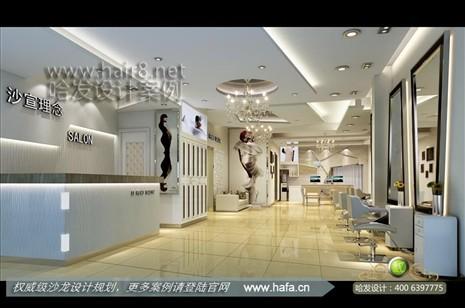 江苏省南京市魅力时尚现代美发店装修案例【图1】