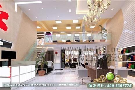 美发店装修图片-江苏省盐城市现代简约风格美发店装修设计案例-案例