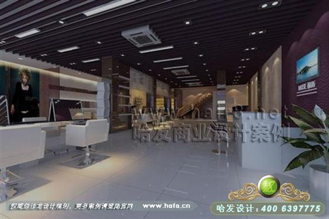 江苏省张家港市个性浪漫风格美发店装修设计案高清图片