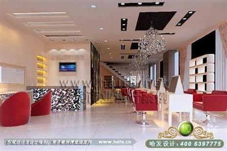 广东省广州市冷艳风格美发店装修设计案例 美