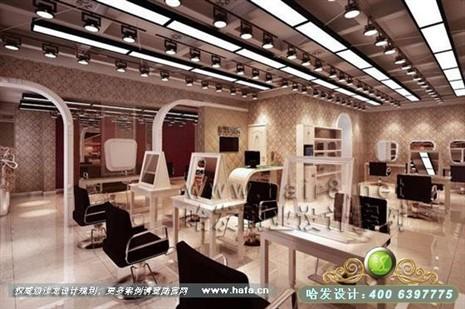 上海市简欧风格发廊装修设计案例-美发店装修
