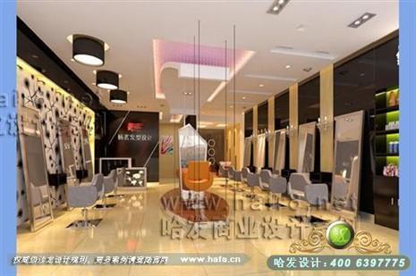 江苏省徐州市杨茗发型设计  时尚简约风格发廊设计案例 面积:60平米