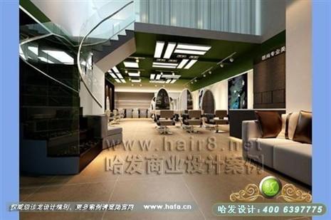 清新乡村风格美发店装修设计案例图片