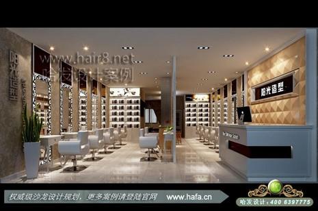 甘肃省临洮市本案表现的是现代欧式风格体现时尚清新,浪漫温馨理发店图片