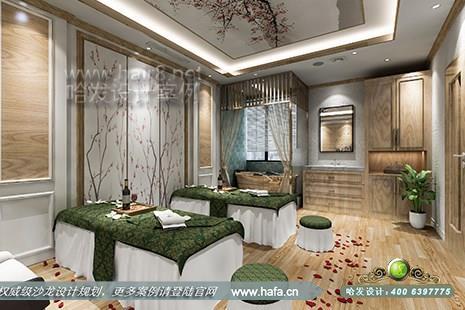 山东省淄博市国色天香皮肤管理中心采用欧式风格美发美容综合店装潢