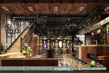 江苏省南京市托乐嘉叭丽造型采用复古风格美发店设计案例【图1】