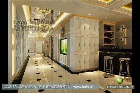 南宁市奢华欧式,高贵大气发廊装修设计案例【图3】