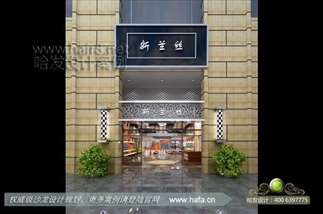 美发店装修设计 广东省广州市现代独特创意美发店装