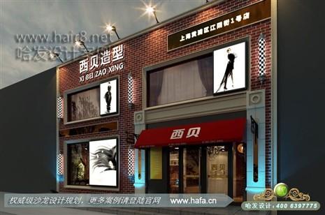 营造怀旧复古的风格美发店装修设计案例【图3】