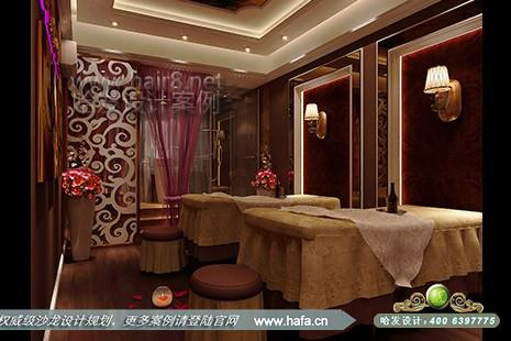 造型美容养生spa简约的墙壁设计穿插欧式花雕,古典中透着现代感的华丽