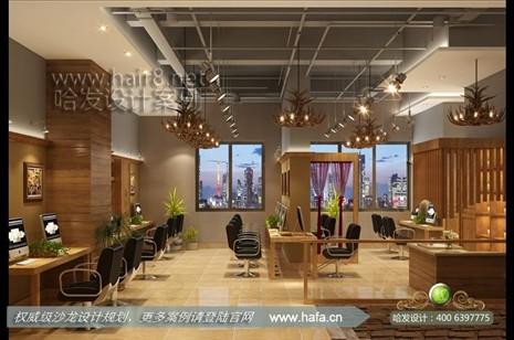 福建省泉州市奢华原生态美发店装修设计案例【图2】