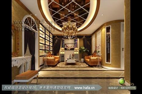 案的设计风格为简约欧式,营造典雅,高贵的气质美容店装修案例【图1】