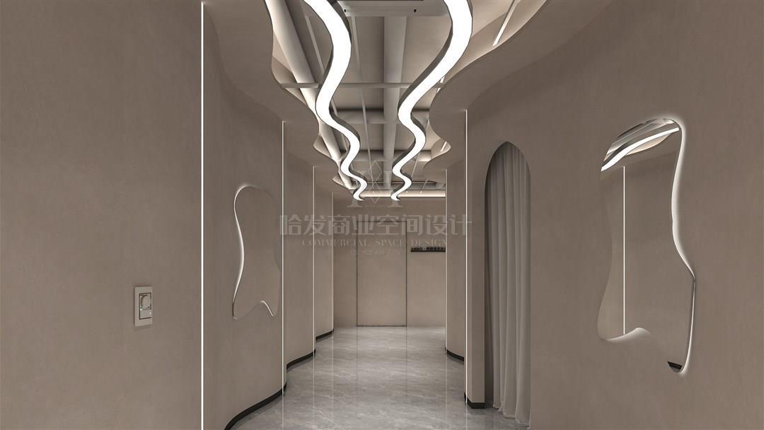 柔和的曲线和硬朗动感融合于空间--