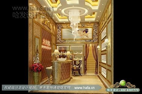 欧式为主,营造典雅,体现奢华的气质美容店装修案例
