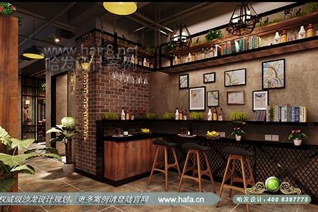 上海市好优美美容美发养生会馆采用复古风格美发店装修案例【图3】图片
